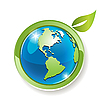 Vector clipart: globe with leaves