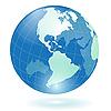 Blue globo | Ilustración vectorial