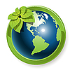 Vector clipart: globe with flower
