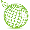 Vector clipart: green globe
