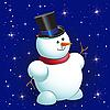 Векторный клипарт: снеговик