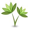 Vector clipart: green flower