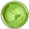 Vector clipart: green globe