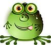 Vector clipart: green monster