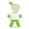 Vector clipart: green person