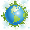 Vector clipart: green planet