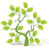 Vector clipart: green tree