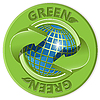 Vector clipart: Globe and green arrow