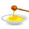 Vector clipart: honey on saucer