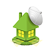 Vector clipart: green house with aerial