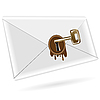 Vector clipart: key in envelope