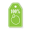 Vector clipart: label apple