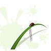 Vector clipart: Ladybird and stairway