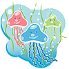 Vector clipart: jellyfish