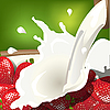 Vector clipart: milk and strawberry