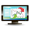 Vector clipart: monitor with graph