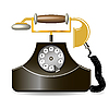 Vector clipart: old telephone