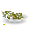 Vector clipart: olives on saucer