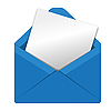 Vector clipart: open envelope
