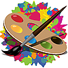 Vector clipart: Paints