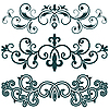 Vector clipart: ornamental patterns