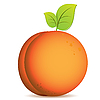 Vector clipart: peach