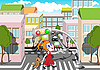 Vector clipart: pedestrian crossing
