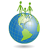 Vector clipart: people on globe