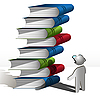 Vector clipart: persons and books