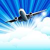 Векторный клипарт: Самолет