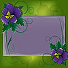 Vector clipart: postcard with violet