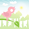 Vector clipart: rose bird