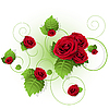 Vector clipart: roses