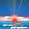 Vector clipart: sea sundown