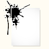 Vector clipart: sheet with inkblot