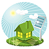 Vector clipart: solar battery