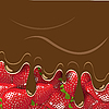Vector clipart: strawberry and chocolate