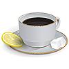 Vector clipart: Tea with lemon