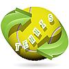 Векторный клипарт: теннисный мяч