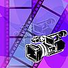 Векторный клипарт: Видеокамера