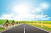 Vector clipart: wind mills