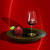 Vector clipart: wine and apple