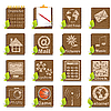 Vector clipart: wooden icons