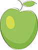 Vector clipart: green apple