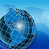 Vektor Cliparts: Blaue Weltkugel