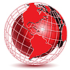 Vector clipart: Red Globe