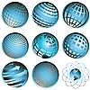 Vector clipart: icons globe