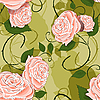 Vector clipart: seamless texture of roses