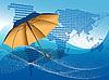 Vektor Cliparts: Regenschirm