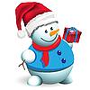 Vector clipart: snowman